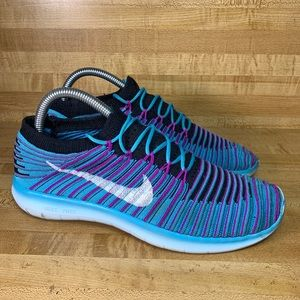 Nike Free Running Motion Flyknit Shoes size 8